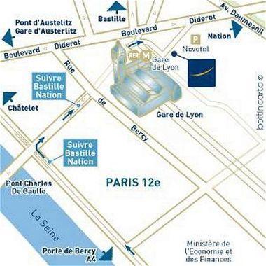 Novotel Paris Gare de Lyon Paris, Hotel France. Limited Time ... on arc de triomphe map, wenceslas square map, argentina map, the london underground map, vincennes map, champ de mars map, paris map, lyon france metro map, lyon train station map, europe map, ville de lyon map,