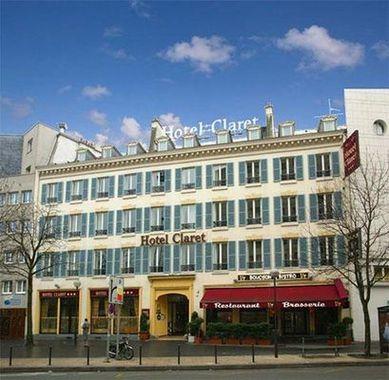 Claret hotel paris france prix r servation moins cher for Prix hotel france